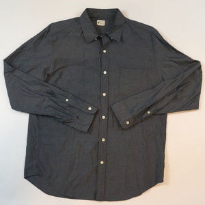 J. Crew Sunwashed Oxford Mens Large Button Front